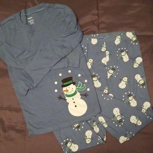 Gymboree Christmas Snowman pajamas